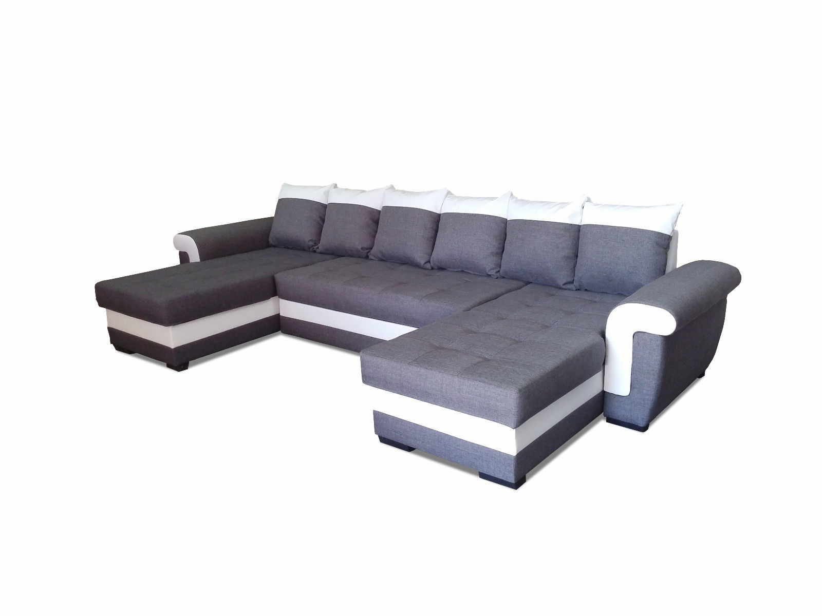 ecksofa latte u couch sofa mit schlaffunktion eckcouch sofagarnitur modern 01 ebay. Black Bedroom Furniture Sets. Home Design Ideas